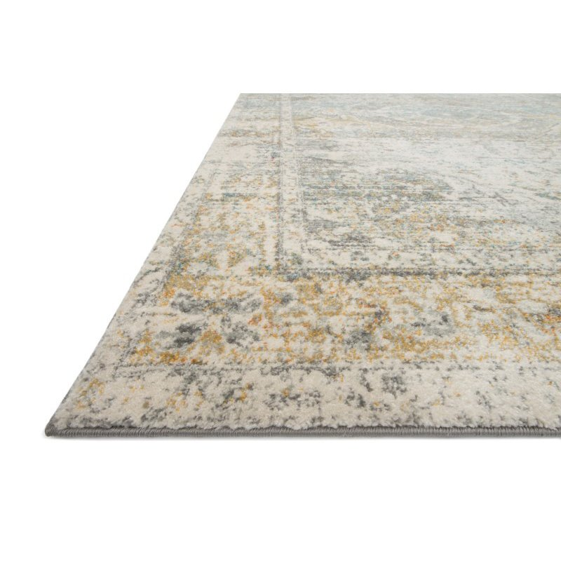 """Loloi Zehla ZL-05 Transitional Runner Rug 2' 7"""" x 7' 7"""" in Stone and Stone (ZEHLZL-05SNSN2777)"""