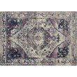 "Loloi Zehla ZL-05 Transitional Square Rug 1' 6"" x 1' 6"" in Ivory and Berry (ZEHLZL-05IVBY160S)"