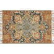 """Loloi Zharah ZR-10 3' 6"""" x 5' 6"""" Rectangle Rug in Rust and Blue (ZHARZR-10RUBB3656)"""