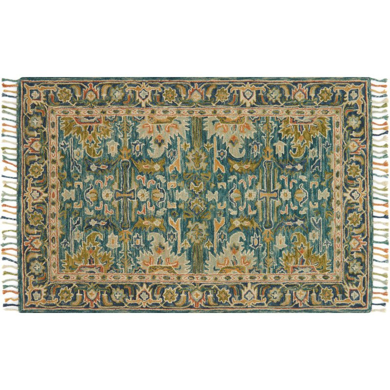 """Loloi Zharah ZR-12 7' 9"""" x 9' 9"""" Rectangle Rug in Blue and Navy (ZHARZR-12BBNV7999)"""