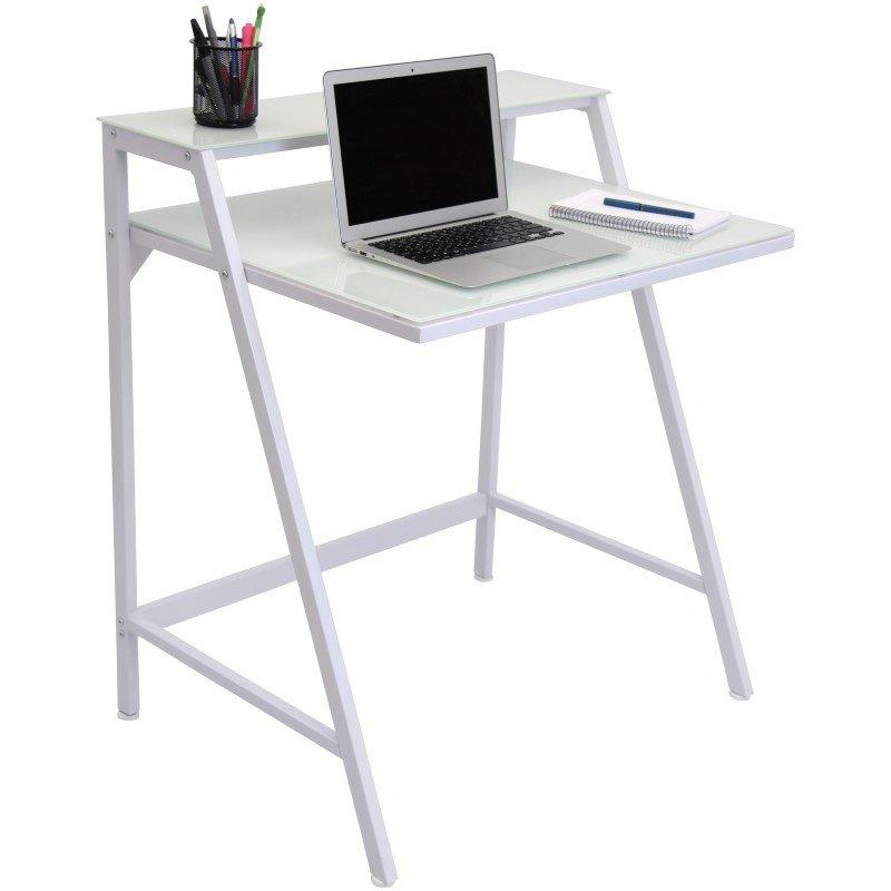 Lumisource 2-Tier Desk in White