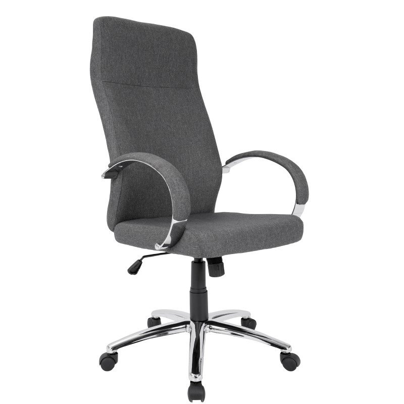 Lumisource Ambassador Contemporary Office Chair in Grey Fabric (OFC-AC-AMB GY)
