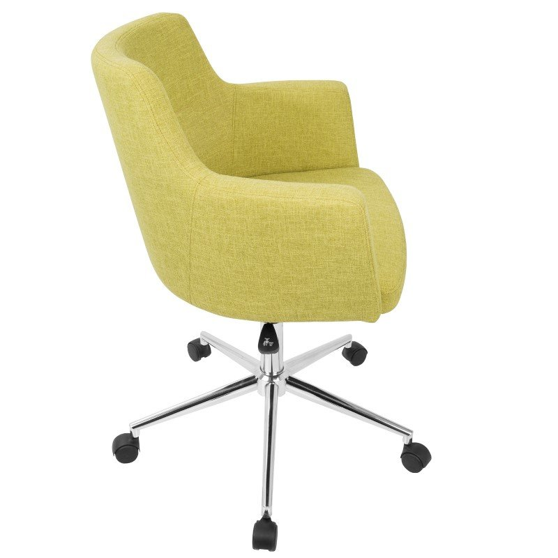 Lumisource Andrew Contemporary Adjustable Office Chair in Green (OC-ANDRW LG)