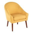 Lumisource Bacci Contemporary Accent Chair in Yellow Fabric (CHR-BACCI WL+Y)