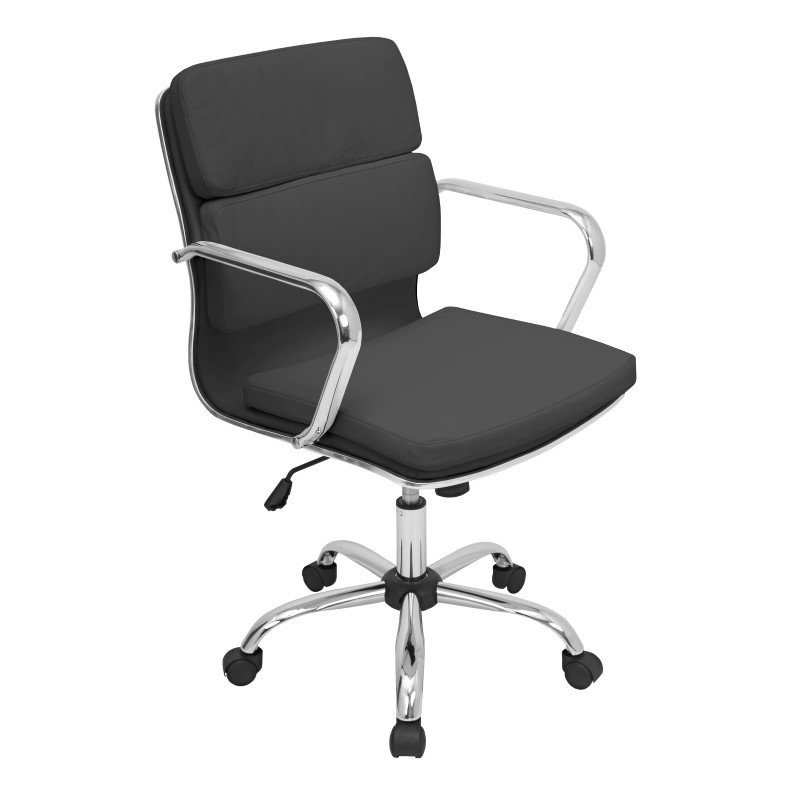 Lumisource Bachelor Height Adjustable Office Chair in Black