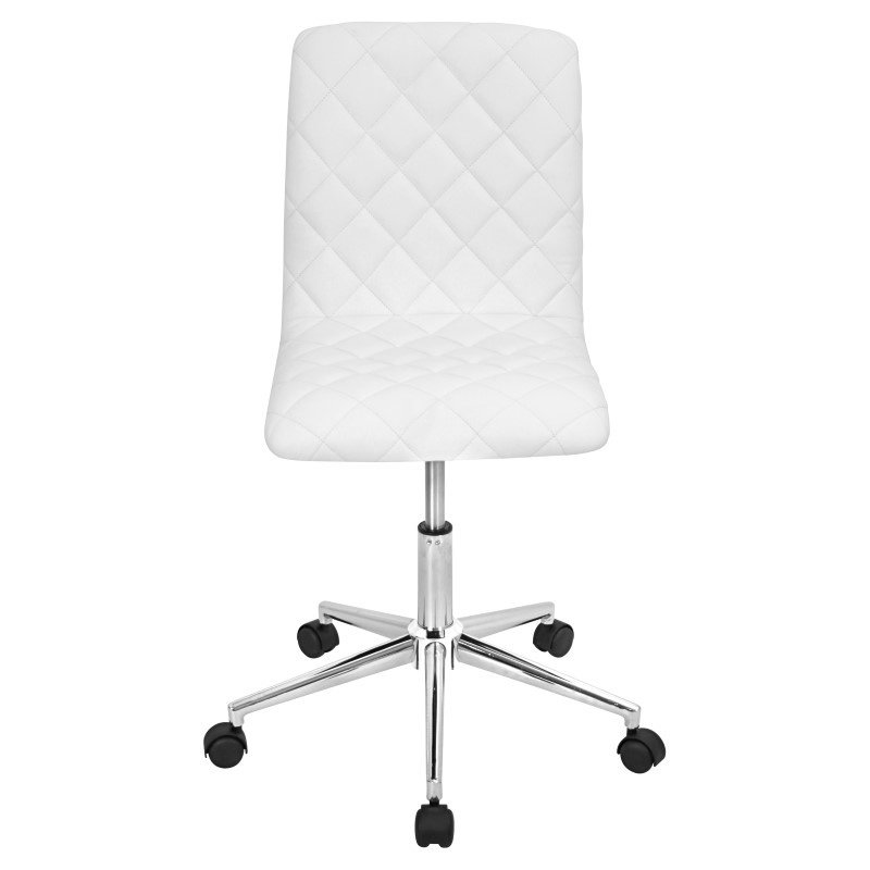 Lumisource Caviar Height Adjustable Office Chair in White