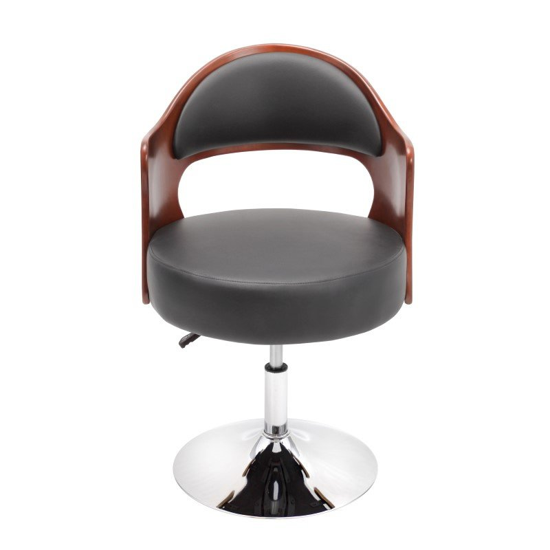 Lumisource Cello Height Adjustable Chair in Cherry and Black