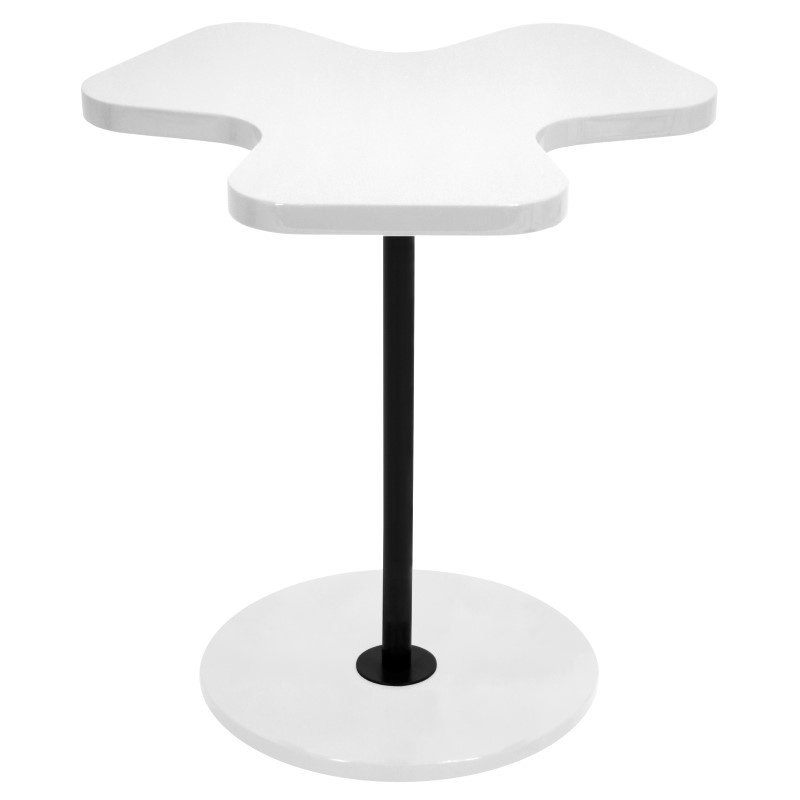 Lumisource Clover End Table in White