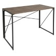Lumisource Dakota Industrial Office Desk in Black with Wood Top (OFD-DKTA BK+BN)