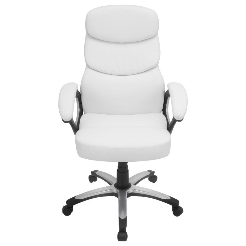Lumisource Doctorate Height Adjustable Office Chair in White
