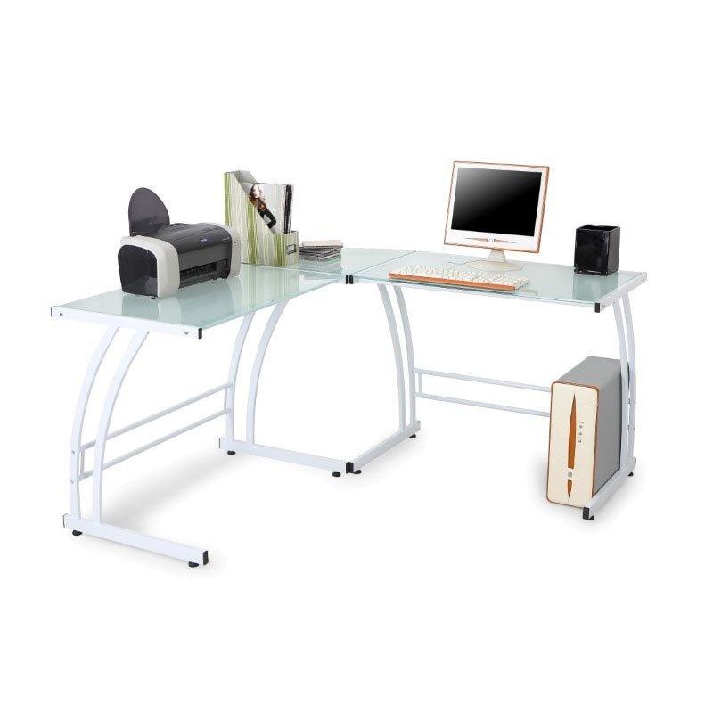 Lumisource Gamma Desk in White Frame