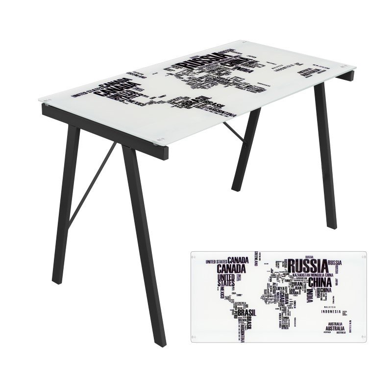 Lumisource Graphic Exponent Desk in White and Black
