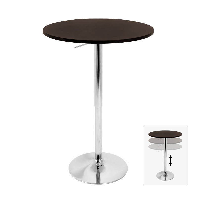 Lumisource Height Adjustable Bar Table in Brown