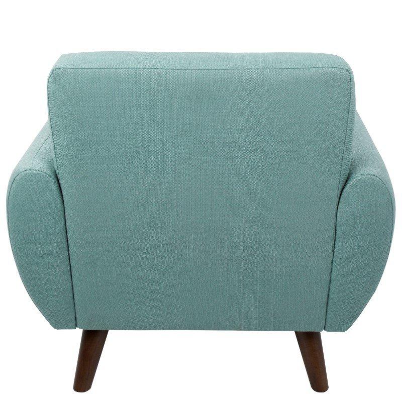 Lumisource Hemingway Mid-Century Modern Accent Chair in Teal (CHR-HEMWY TL)