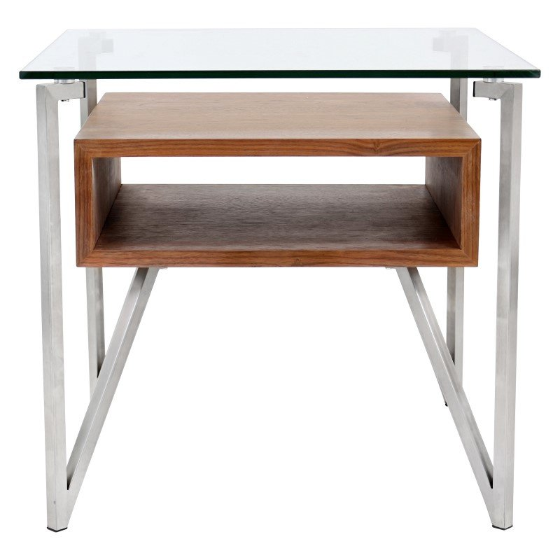 Lumisource Hover End Table in Walnut