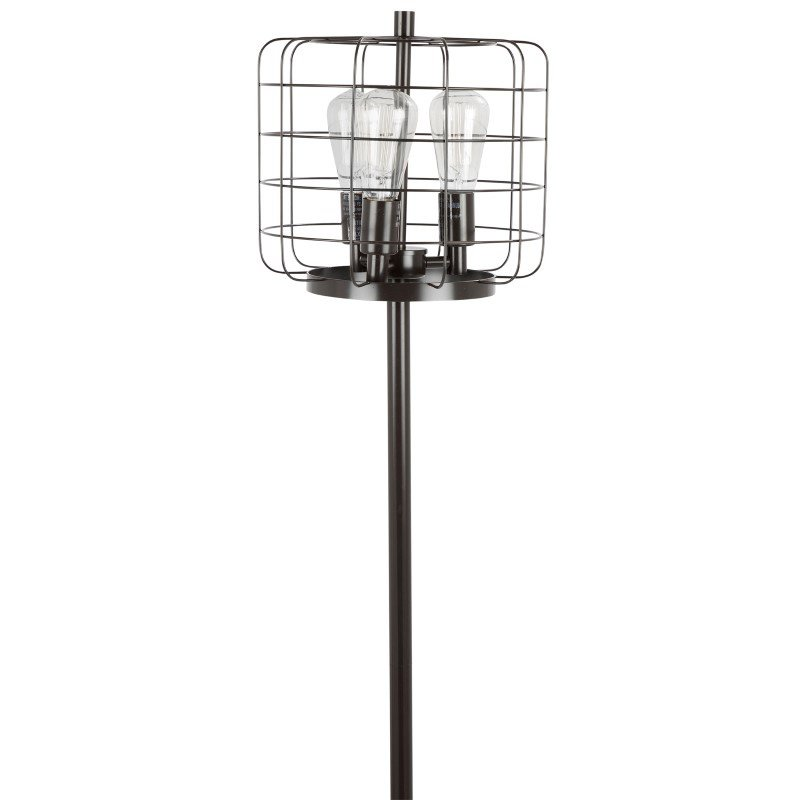 Lumisource Indy Cage Industrial Floor Lamp in Antique (LS-INDYCG AN)