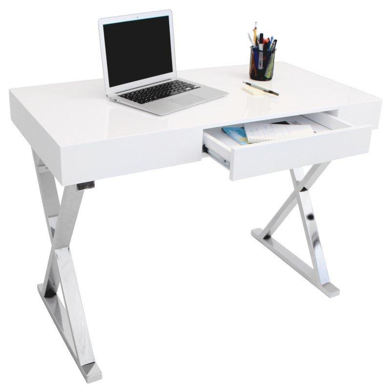 Lumisource Luster Desk in White