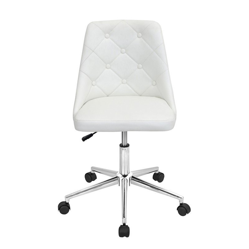 Lumisource Marche Height Adjustable Office Chair in White