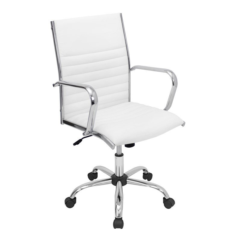 Lumisource Master Height Adjustable Office Chair in White