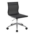 Lumisource Mirage Industrial Office Chair in Chrome and Black (OC-MIRAGE BK)
