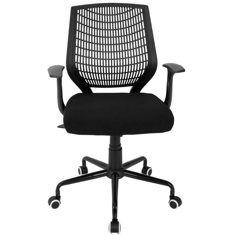 Lumisource Network Contemporary Height Adjustable Office Chair with Swivel in Black (OFC-NET BK+BK)