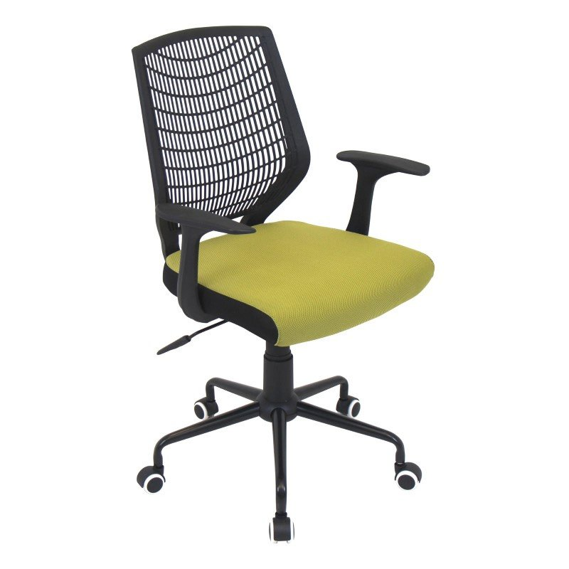 Lumisource Network Height Adjustable Office Chair in Black and Green