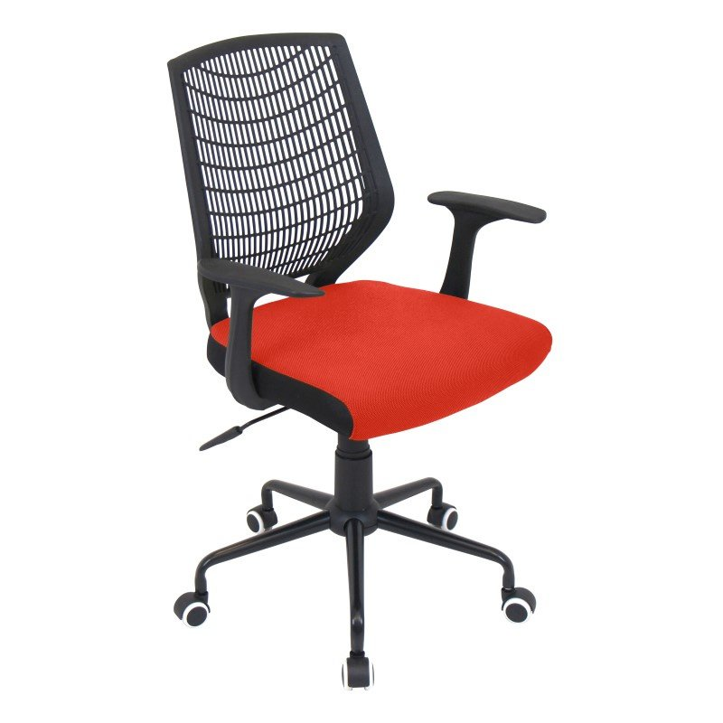 Lumisource Network Height Adjustable Office Chair in Black and Red