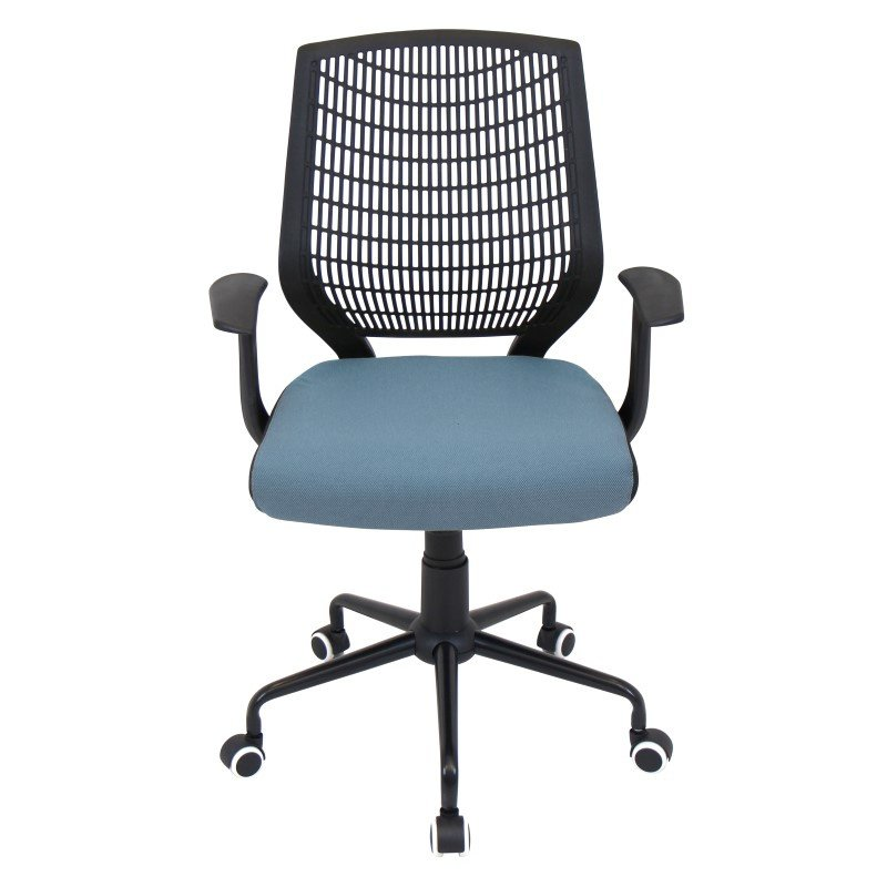 Lumisource Network Height Adjustable Office Chair in Black and Smoked Blue