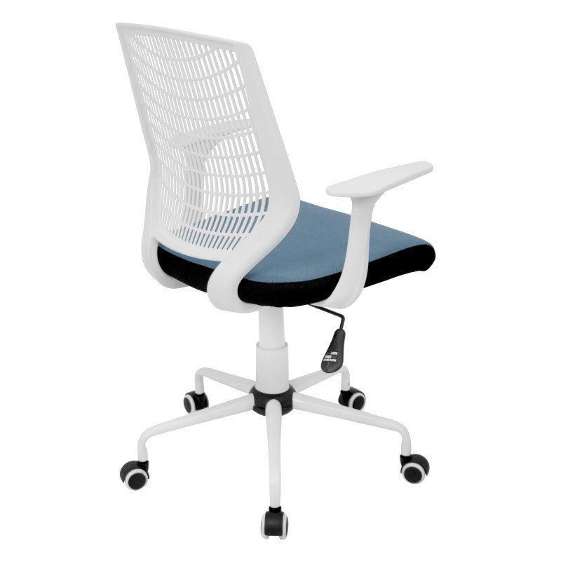 Lumisource Network Height Adjustable Office Chair in White and Smoked Blue
