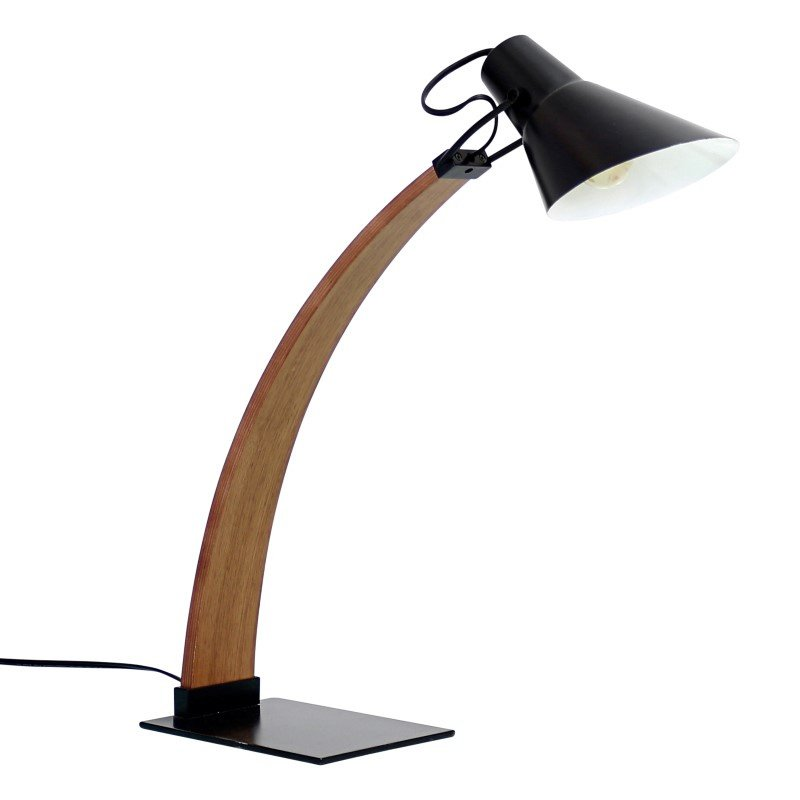 Lumisource Noah Table Lamp in Walnut and Black