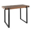 Lumisource Odessa Industrial Counter Table in Black Metal and Brown Wood-Pressed Grain Bamboo (T36-ODESA BK+BN)