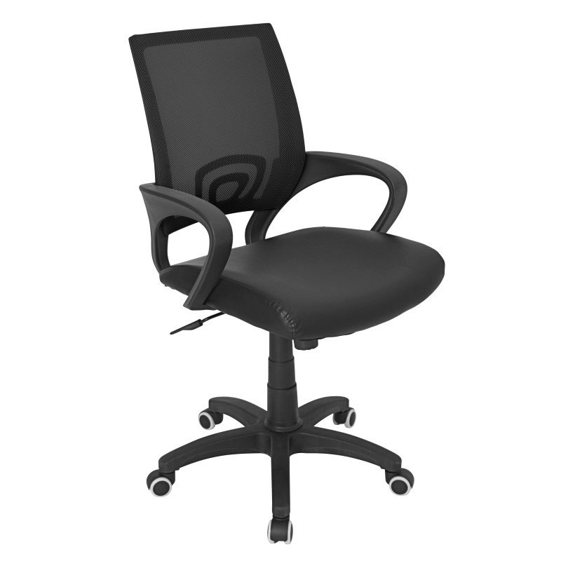 Lumisource Officer Height Adjustable Office Chair in Black