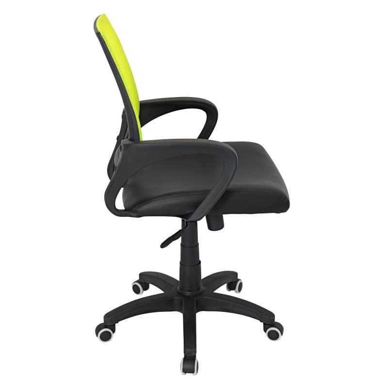 Lumisource Officer Height Adjustable Office Chair in Lime Green