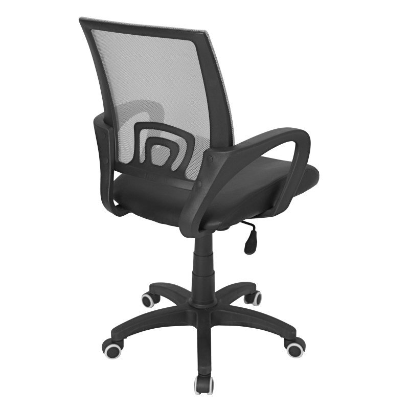 Lumisource Officer Height Adjustable Office Chair in Silver