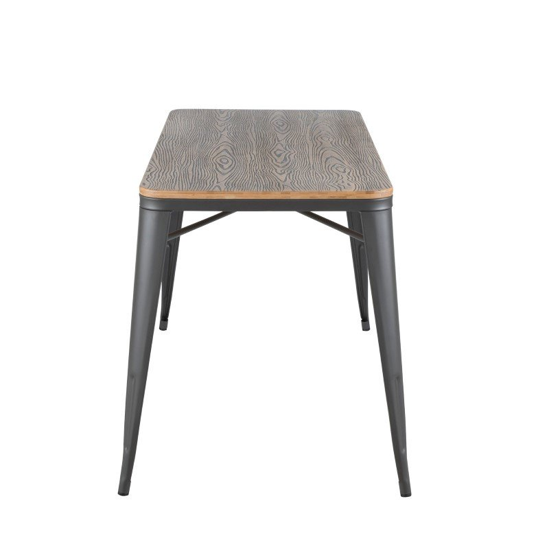 Lumisource Oregon Industrial-Farmhouse Utility Table in Grey and Brown (TB-OR2448 GYBN)