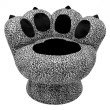 Lumisource Paw Chair in Snow Leopard