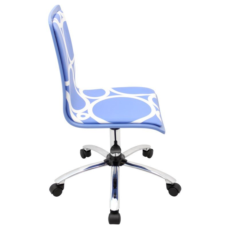 Lumisource Printed Height Adjustable Office Chair in Blue Circles