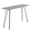 Lumisource Sedona Industrial Console Table in Brushed Antique Metal and Dark Brown Wood (TBC-SDNA AN+DBN)