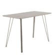 Lumisource Sedona Industrial Counter Table in Brushed Antique Metal and Dark Brown Wood (CT-SDNA AN+DBN)