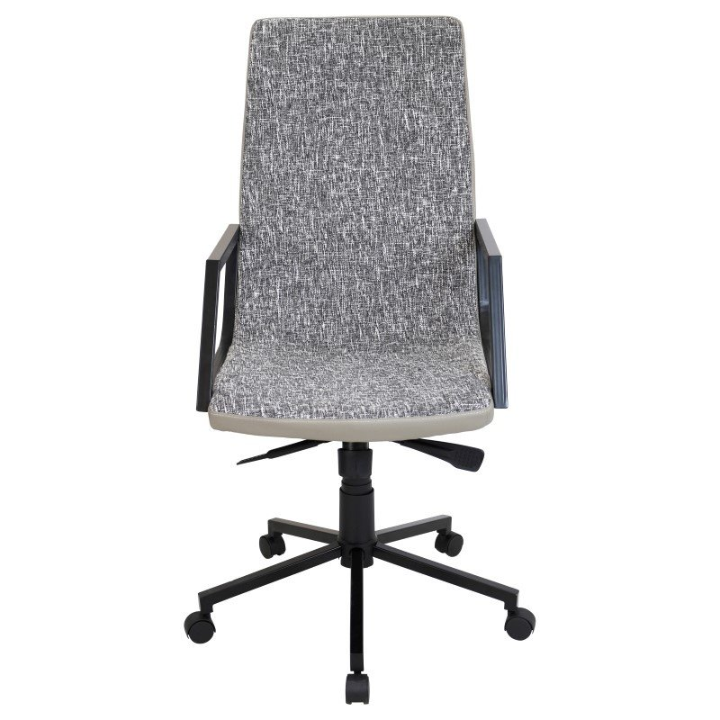 Lumisource Senator Height Adjustable Office Chair in Black and Tan