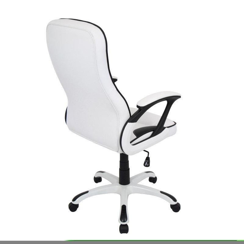 Lumisource Storm Height Adjustable Office Chair in White