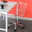 Lumisource Swiss Height Adjustable Office Chair in Clear
