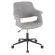 Lumisource Vintage Flair Mid-Century Modern Office Chair in Grey with Black Metal Base (OC-VFL BK+GY)