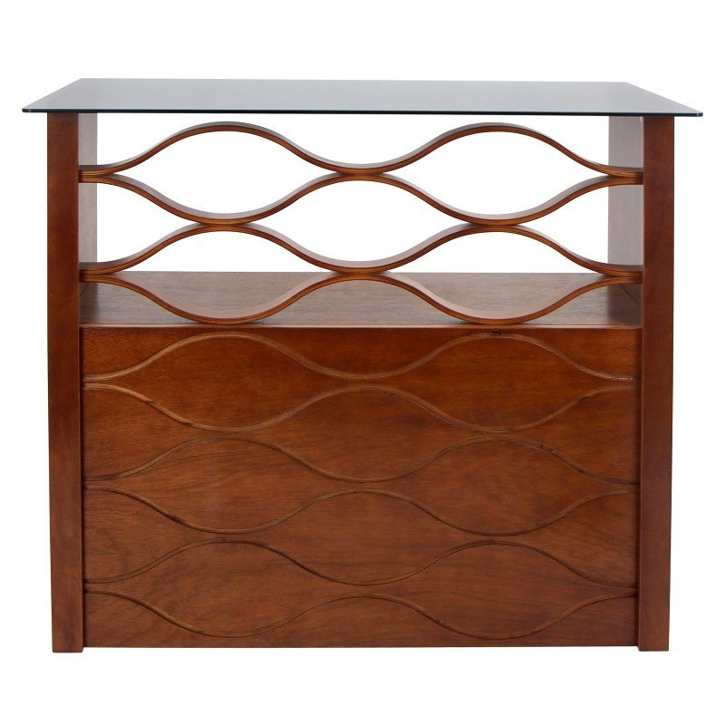 Lumisource Wave Bar in Walnut and Clear