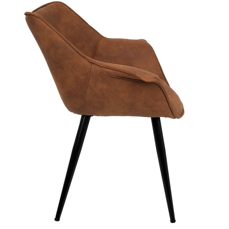 Lumisource Wrangler Contemporary Accent Mid-century Modern Chair in Rust - Set of 2 (CH-WRNG RU2)