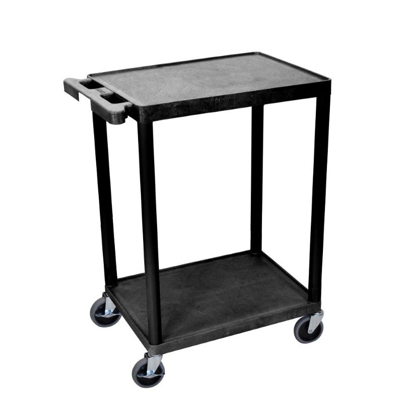 Luxor 2 Shelf Black Cart (STC22-B)