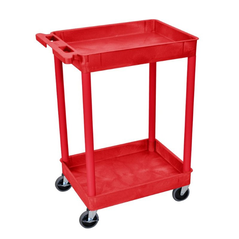 Luxor 2 Shelf Tub Cart in Red (RDSTC11RD)