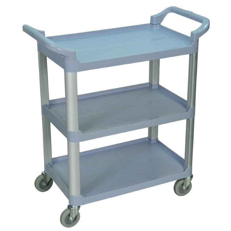Luxor 3 Shelf Gray Serving Cart (SC12-G)