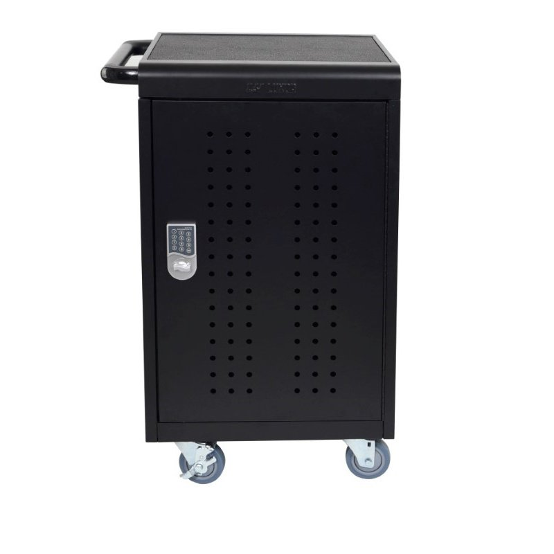 "Luxor 30"" Tablet / Chromebooks Charging Cart with Programmable Keypad Lock (LLTM30-B-KP)"