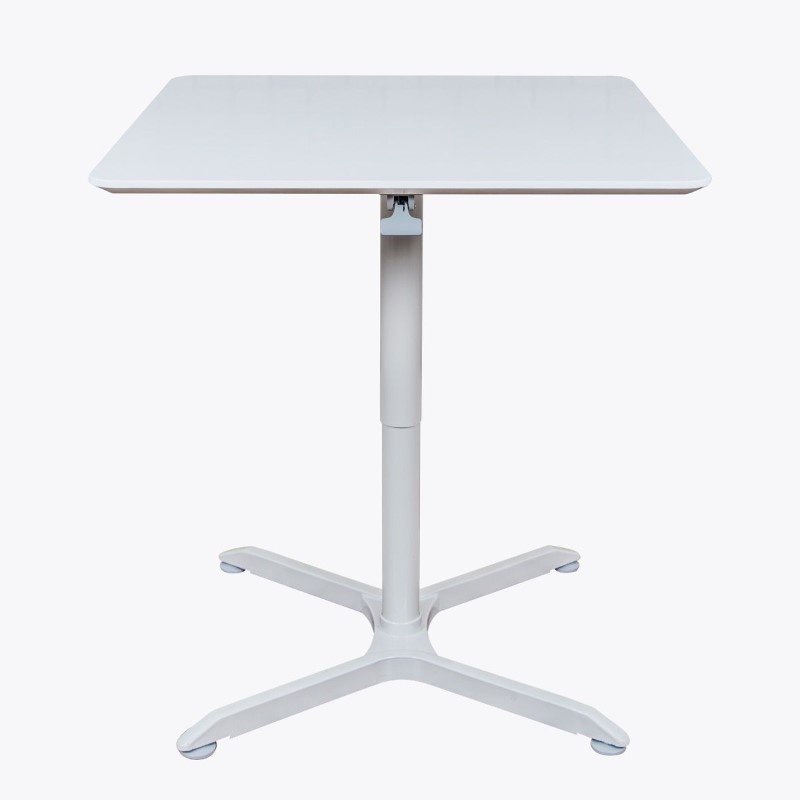 """Luxor 32"""" Pneumatic Height Adjustable Square Cafe Table in Gray (LX-PNADJ-32SQ)"""
